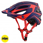 MTB helma TroyLeeDesigns A2 Helmet MIPS Dropout Navy / Orange 2019