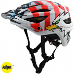 MTB helma TroyLeeDesigns A2 Helmet MIPS Screaming Eagle White Limited Edition 2020