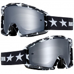 MX brýle FOX Main Stripe Goggle Black White 2019
