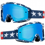 MX brýle FOX Main Stripe Goggle White Red Blue 2019