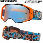 MX brýle Oakley Airbrake Prizm MX Camo Vine Night Orange Blue Sapphire Goggle