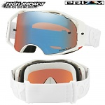 MX brýle Oakley Airbrake Prizm MX Factory Pilot Whiteout Sapphire Goggle