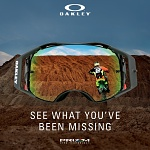 MX brýle Oakley Airbrake Prizm MX Factory Pilot Whiteout Saphire Goggle