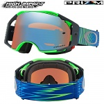 MX brýle Oakley Airbrake Prizm MX Shockwave Blue Green Sapphire Goggle
