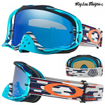 MX brýle Oakley Crowbar TroyLeeDesigns Code Red White Blue