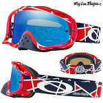 MX brýle Oakley Crowbar TroyLeeDesigns Metric Red White