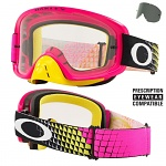 MX brýle Oakley O2 MX Dissolve Pink Yellow Clear + Dark Grey Lens