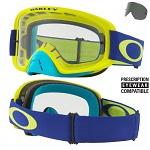MX brýle Oakley O2 MX Lime Blue Clear + Dark Grey Lens