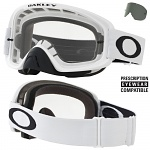 MX brýle Oakley O2 MX Matte White Clear + Dark Grey Lens