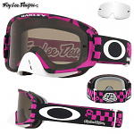 MX brýle Oakley OFrame 2.0 MX TroyLeeDesigns RaceShop Pink Dark Grey + Clear Lens