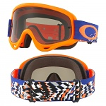 MX brýle Oakley Oframe Checked Finish Blue Orange Grey Lens