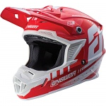 MX helma ANSWER AR-1 Helmet White Red 2018