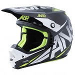 MX helma ANSWER Evolve 3 Helmet Black White 2016