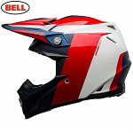 MX helma BELL Moto-9 Carbon FLEX Division White Red Blue 2020