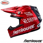 MX helma BELL Moto-9 Carbon FLEX Fasthouse DITD Red 2019