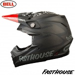 MX helma BELL Moto-9 Carbon FLEX Fasthouse Matte Black Red 2018