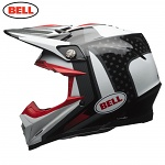 MX helma BELL Moto-9 Carbon FLEX Vice Black White 2018