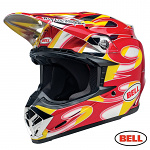 MX helma BELL Moto-9 MIPS McGrath Replica Yellow Chrome