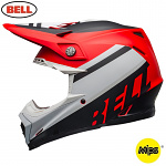 MX helma BELL Moto-9 MIPS Prophecy Matte White Red Black 2020