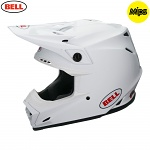 MX helma BELL Moto-9 MIPS Solid White 2018