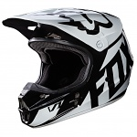 MX helma FOX V1 Race Helmet Black 2017