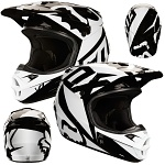 MX helma FOX V1 Race Helmet Black 2018