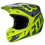 MX helma FOX V1 Race Helmet Yellow 2017
