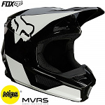 MX helma FOX V1 Revn Helmet MIPS Black White 2021