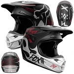 MX helma FOX V1 Rodka SE Helmet Light Grey 2018