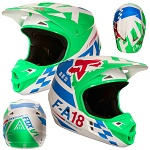 MX helma FOX V1 Sayak Helmet Green 2018
