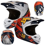 MX helma FOX V1 Sayak Helmet Orange 2018