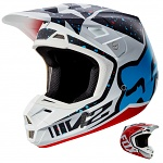 MX helma FOX V2 Helmet Nirv Red White 2017