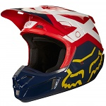 MX helma FOX V2 Helmet Preme Navy Red 2018