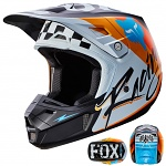 MX helma FOX V2 Helmet Rohr White 2017