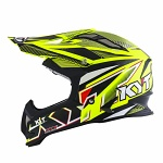 MX helma KYT Strike Eagle Stripe Yellow Fluo