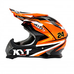 MX helma KYT Strike Simpson Replica Orange
