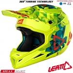 MX helma Leatt GPX 4.5 V20 Lime Teal 2018