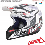 MX helma Leatt GPX 5.5 Composite Black White Red