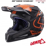 MX helma Leatt GPX 5.5 Composite V15 Black Orange 2017
