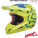 MX helma Leatt GPX 5.5 Composite V15 Lime Blue 2017