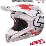MX helma Leatt GPX 5.5 Composite V15 White Red 2017