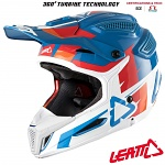 MX helma Leatt GPX 5.5 Composite V10 Blue White 2018