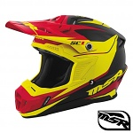 MX helma MSR SC1 Helmet Phoenix Black Yellow Red 2017