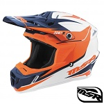 MX helma MSR SC1 Helmet Phoenix White Orange Navy 2017