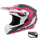 MX helma MSR SC1 Helmet Scope Black Pink White 2017