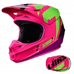 MX helma SHIFT Whit3 Tarmac Helmet Black Pink 2017