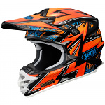 MX helma Shoei VFX-W Maelstrom TC-8 Orange