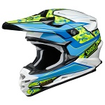 MX helma Shoei VFX-W Turmoil TC-2 Blue White