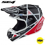 MX helma TroyLeeDesigns SE4 Carbon Metric Black Red 2019