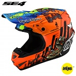 MX helma TroyLeeDesigns SE4 Composite Baja Orange 2019 + brýle zdarma